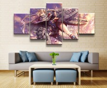 USS Cleveland Azur Lane Anime 5 Piece HD Print Wall Art Canvas For Living Room Decor Painting Modern