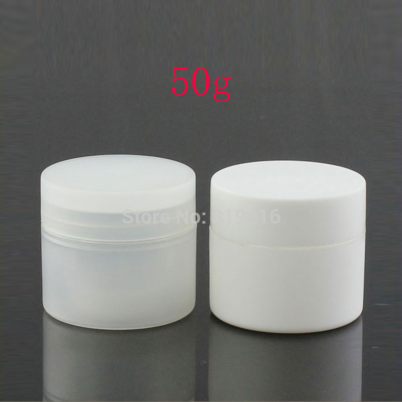 50g Double Wall Round Empty Cosmetic Cream Container Jars