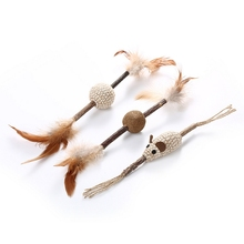 3 Pcs Hot Sale Funny Wood Scorpion Stick Cat Mint Toy Pet Toys Baseball Mouse Very cute Dog Accessories