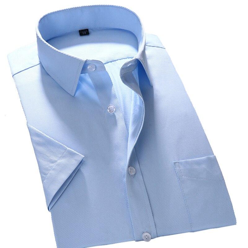 2018 Summer Fashion Short Sleeve Shirt Men Business Formal Shirt Male Working Office Wear Camisa Social Masculina