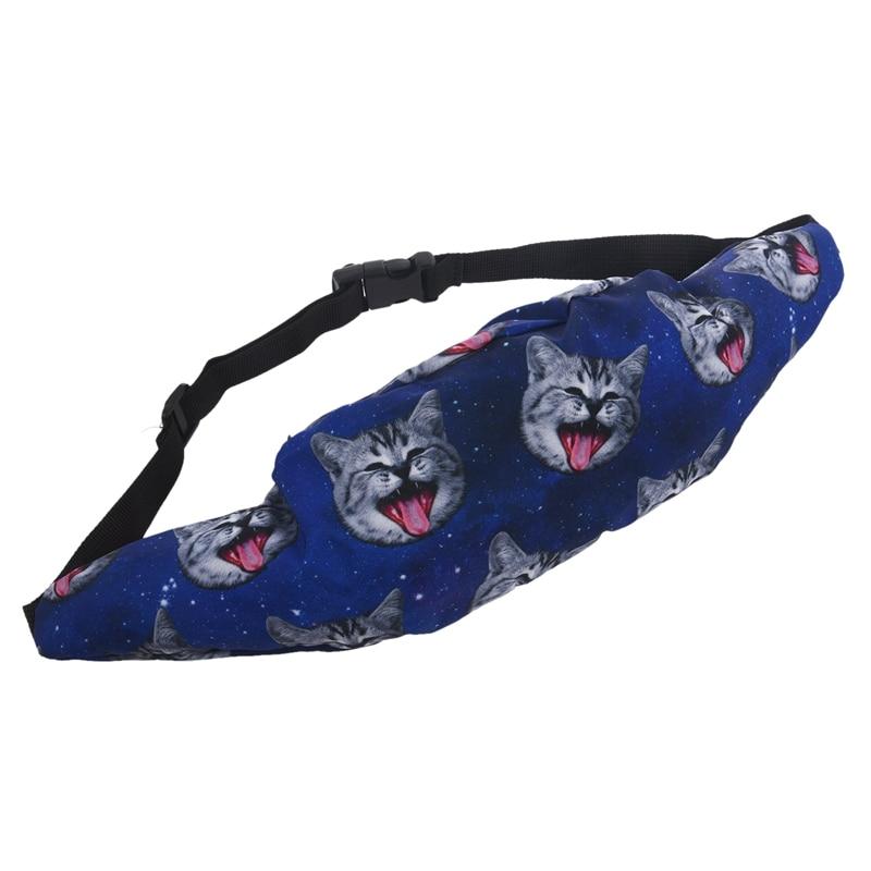 Bum Bag Fanny Pack Festival Waist Belt Pouch Travel Holiday Bum Bag Money Wallets (Blue)