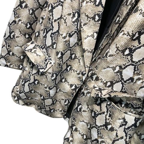Spring Snake Print Blazer Women Vintage Suits Blazers Woman Long Sleeve Pocket Leopard Office Lady Jackets Islamabad