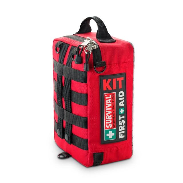 Kit de primeiros socorros, kit profissional de 4 camadas, primeiros socorros, sobrevivência, armário, grande, saco de resgate para viagem