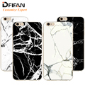 DFIFAN TPU Surrounding PC Back Board Marble granite Stone Grain Line Pattern for iPhone 7 Plus 6 6s Plus 5 5s iphone6 Precise