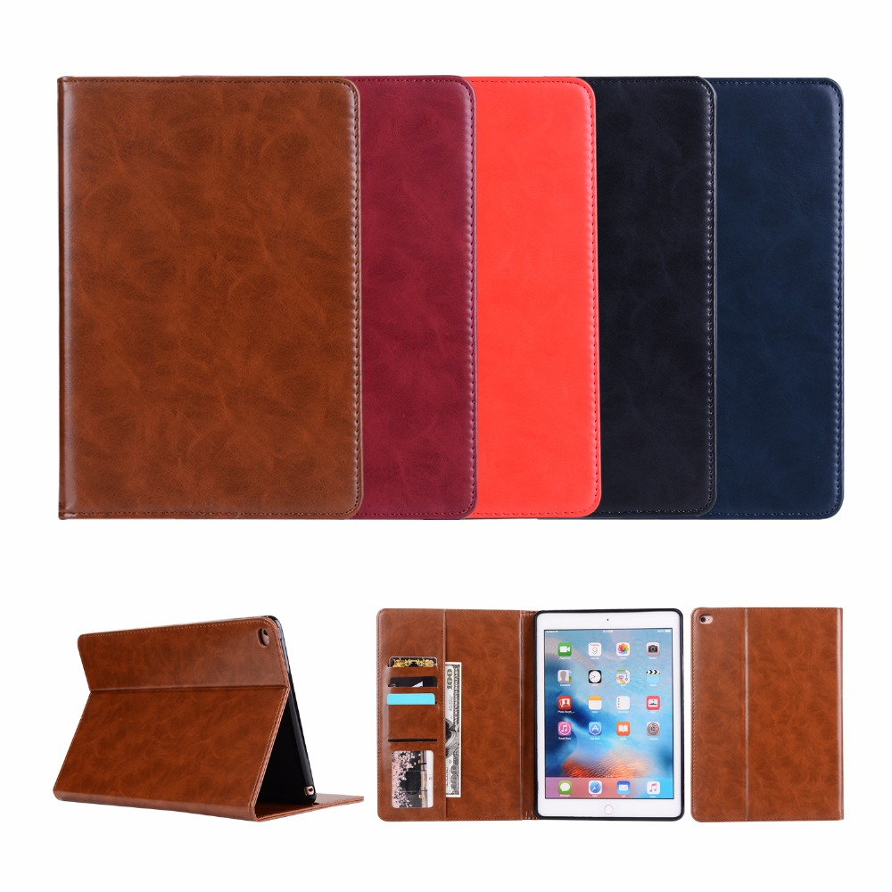 YCJOYZW - TPU Soft Case For Apple ipad Air 1/2 for 2017/2018 ipad 9.7 case- PU Leather Magnetic Smart Auto Sleep Wake Cover Skin