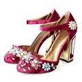 Zapatos de mujer Nueva Llegada de Lujo de Las Mujeres Rhinestone Deco Tacones Altos zapatos mujer Bombas Mujer Zapatos de Fiesta de Bodas de Cristal de Terciopelo