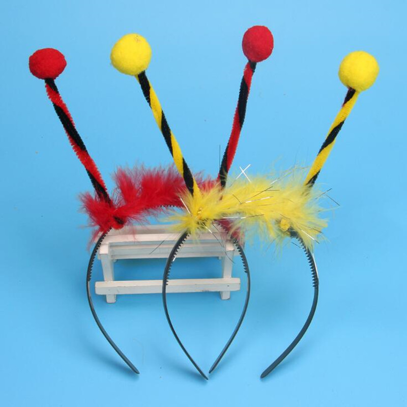 Children Boy Girl Feather Bee Ladybug Headband Hairband Kids Performance Cosplay Hair Accessories Party   Headwear   Christmas