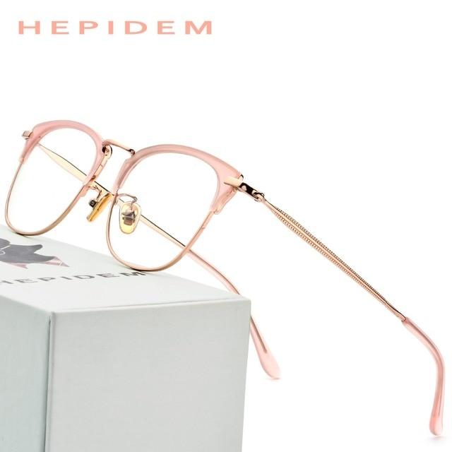 096446a53e Acetato gafas marco mujer oro rosa ronda anteojos recetados gafas mujer  2018 hombres de alta calidad