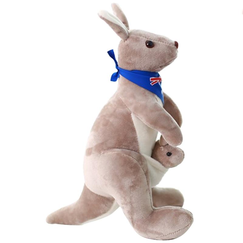 Sweet Kangaroo Stuffed Animal Soft Plush Doll Toys for Baby Kids (Blue)