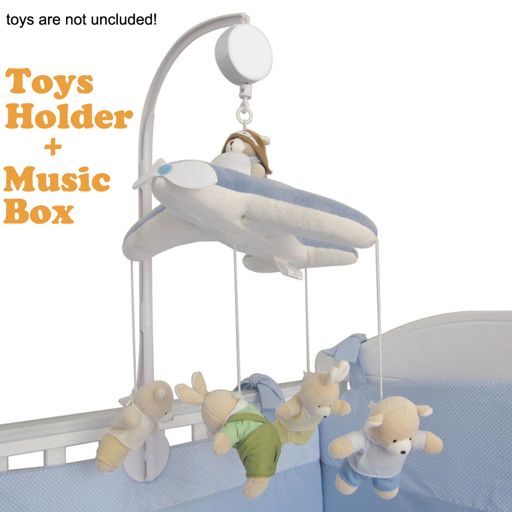 rotating baby crib cot bedding set mobile bed bell toys holder arm bracket wind up music box. Black Bedroom Furniture Sets. Home Design Ideas