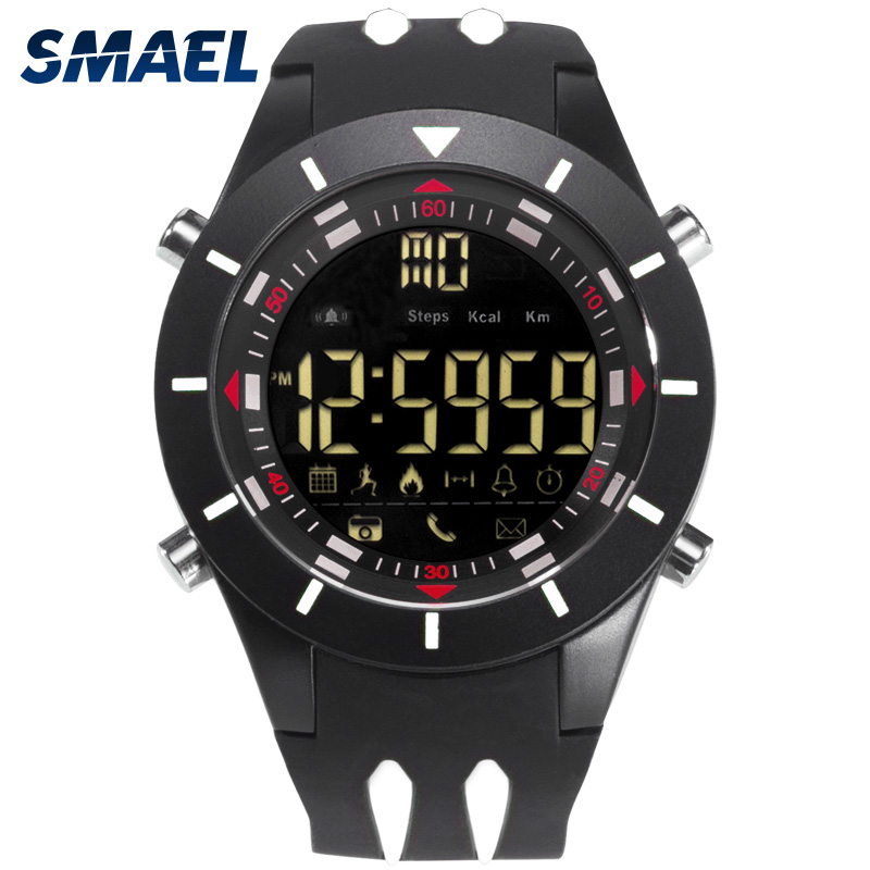 SMAEL Digital Wristwatches Waterproof Big Dial LED Display Stopwatch Sport Outdoor Black Clock Shock LED Watch Silicone Men 8002SMAEL Digital Wristwatches Waterproof Big Dial LED Display Stopwatch Sport Outdoor Black Clock Shock LED Watch Silicone Men 8002