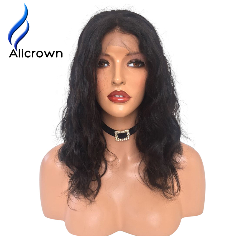 Alicrown Body Wave Brazilian Remy Hair Natural Color Lace Front Human Hair Wigs For Black Women Free Shipping Pre Plucked