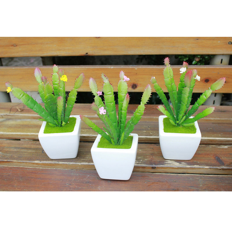 jefes artificial suculentas cactus planta verde plantas de simulacin fake decoracin de flores de plstico