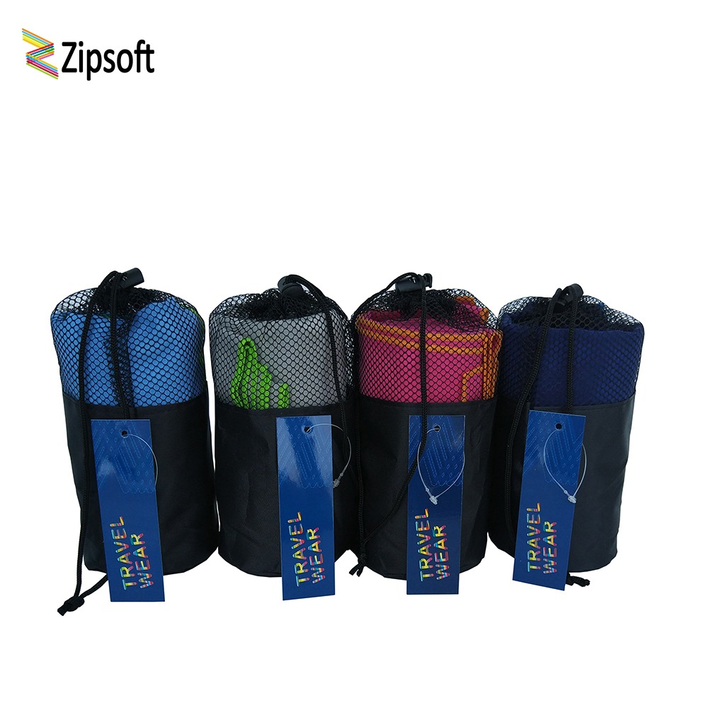 Zipsoft 2Pcs\Lot Sports Towel With Bag Gym Beach For
