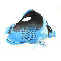 Free Shipping Butterflyfish 43cm Blue Plush Toys Dolls The Cute Pillow Seat Cushion Backrest The Stuffed
