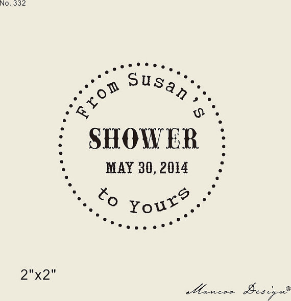 bridal shower stamp from my shower to yours custom rubber stamp for shower gift tags bath