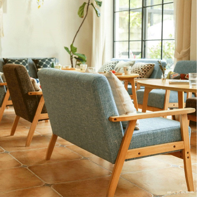 Cafe Casual Small Apartment Restaurant Modern Minimalist Nordic Wood ...