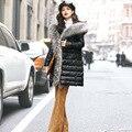 100% Real Grande Gola de Pele De Guaxinim Mulheres Jaqueta de Inverno Luxuoso 2016 Venda Quente Mulheres Jaquetas E Casacos de Marca Europeia GQ1676