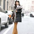 100% Real de piel de Mapache Gran Collar de Lujo de la Chaqueta de Invierno de Las Mujeres 2016 Venta Caliente Marca Europea de Las Mujeres Chaquetas Y Abrigos GQ1676