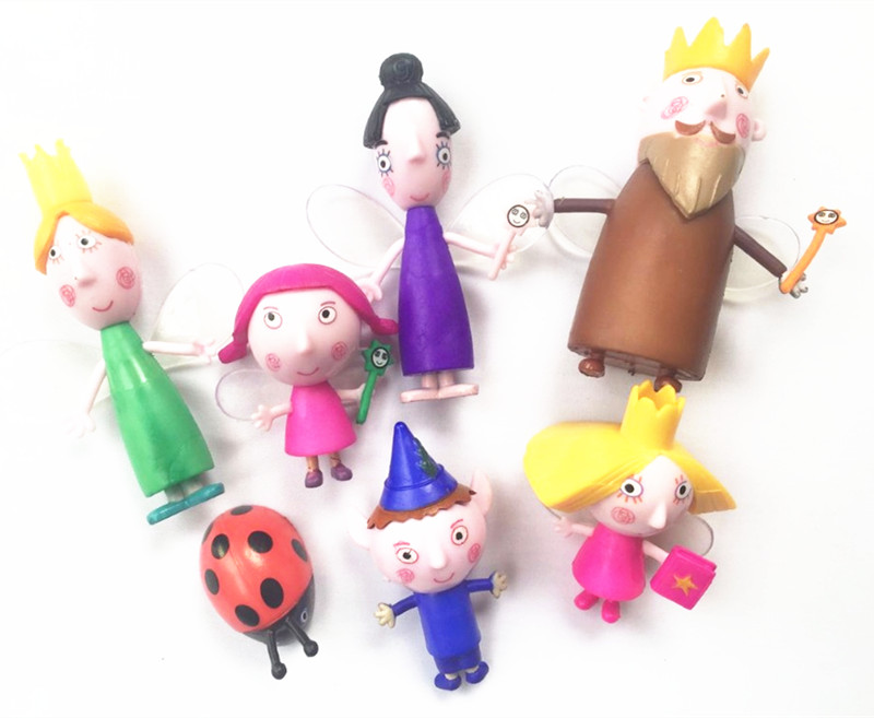 7pcs/set Ben and Holly Little Kingdom Anime Figures toy Anime Cartoon toys Child gift toys for Children timotei бальзам ополаскиватель женский роскошный объем 200 мл