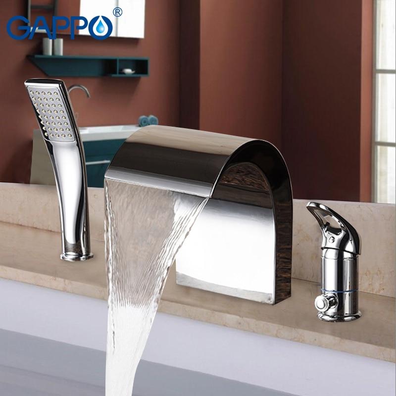 GAPPO Bathtub Faucet bathroom shower taps mixer chrome waterfall bath faucets bath tub water taps faucets mixer deck mount widespread waterfall bathtub faucet chrome bath tub mixer taps five holes bath shower faucets