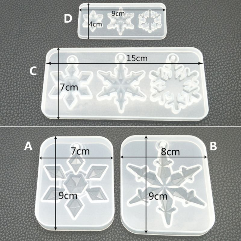 Silicone Snowflake Moulds Resin Jewelry Pendant Making Mold DIY Craft hot