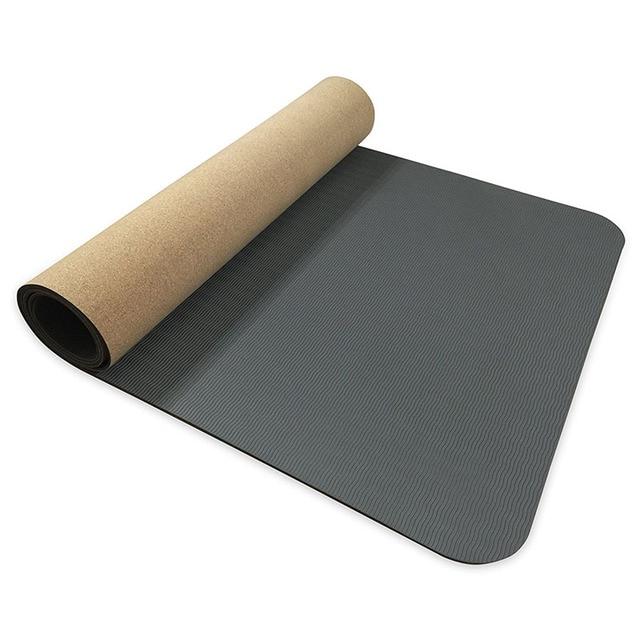 5mm 6mm Non slip TPE+Cork Brand Yoga Mats For Fitness ...
