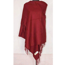 Fashion Burgundy New Winter Chinese Women's 100% Wool Shawl Scarf Thick Warm Wrap Free Shipping SW04-B