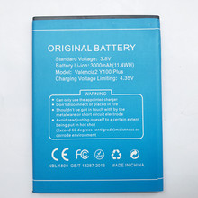 цена на Runboss For DOOGEE Y100 Plus Battery 3000mAh For Doogee Valencia 2 Y100 Plus Cell Phone