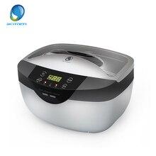 Skymen 2.5L 초음파 청소기 드가 타이머 난방 가정용 보석 청소 틀니 안경 과일 식기 세탁기
