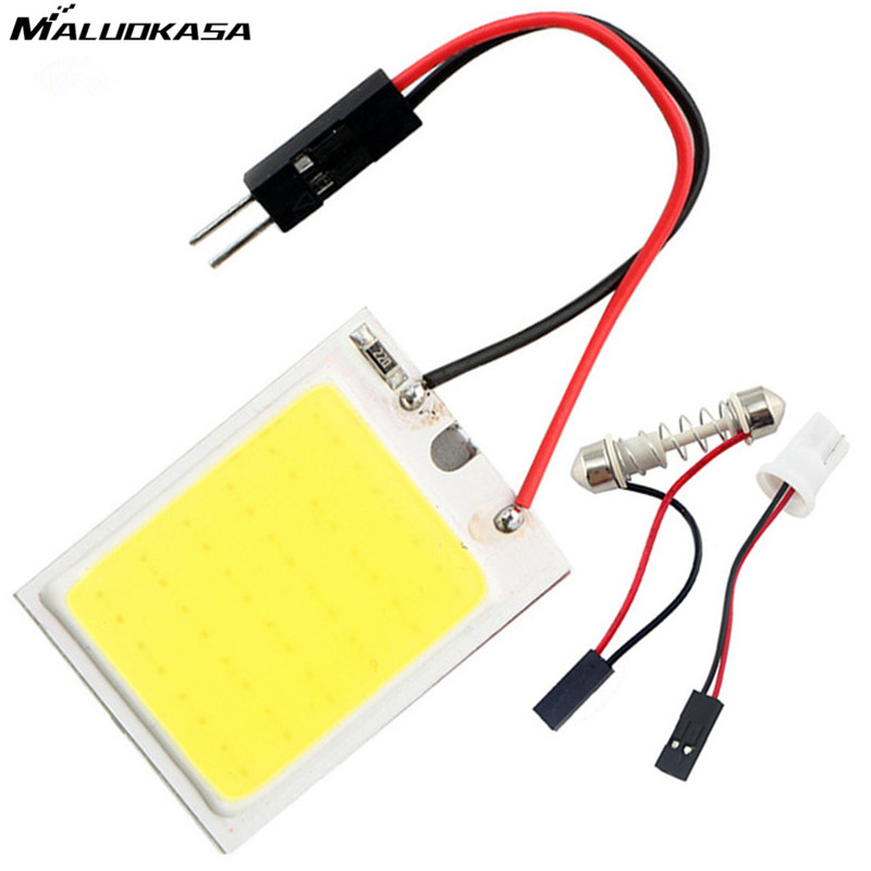 MALUOKASA 10x White T10 24 SMD COB Car Led Light Auto Interior Reading Lamp Bulb Dome Festoon Vehicle Panel Lamps Light Adapter g4 4w 380lm 3000k ac 12v led cob car bulb cabinet dome light soft white