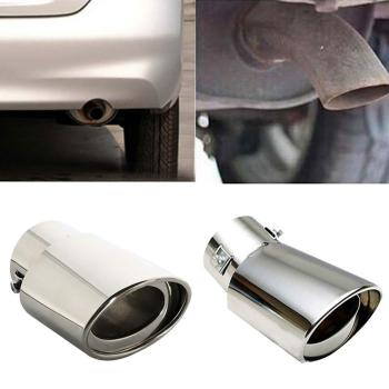 Universal Stainless steel Car Vehicle Rear Round exhaust  Pipe Tail Muffler Tip Chrome Throat Exhaust System Accessories