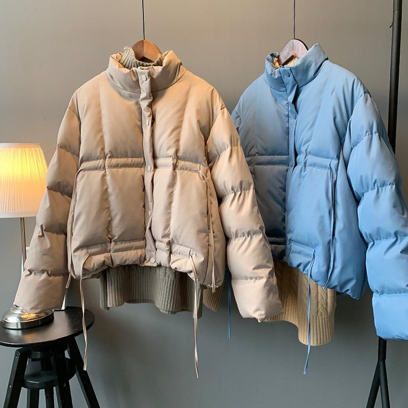 hd2 2018 winter coat thickening short drawstring cotton clothing student super warm cotton coat cherry bry14042
