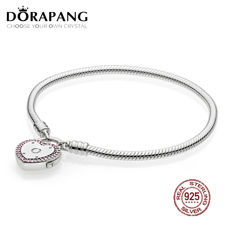 DORAPANG 2018 Valentine's Day Newest 100% 925 Sterling Silver Bracelet Heart shaped Charm Bead for Women of Fashion DIY Bangle велосипед stern kidster transformer 12 2017