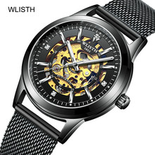 2019 Top Brand Luxury Mechanical Male Watch Men Trend Rose Gold Hollow Automatic Mechanical Watch стоимость