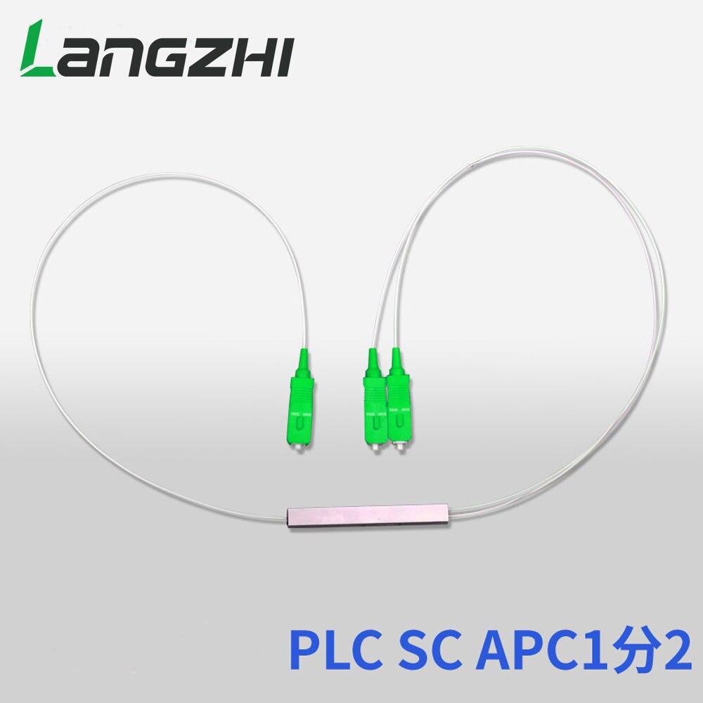 Spécial en gros 10 pièces nouveau 0.9mm SM Tube en acier 1x2 Mini Blockless SC/APC 2 Ports tirer cône Fiber optique PLC séparateur faisceau de câbles