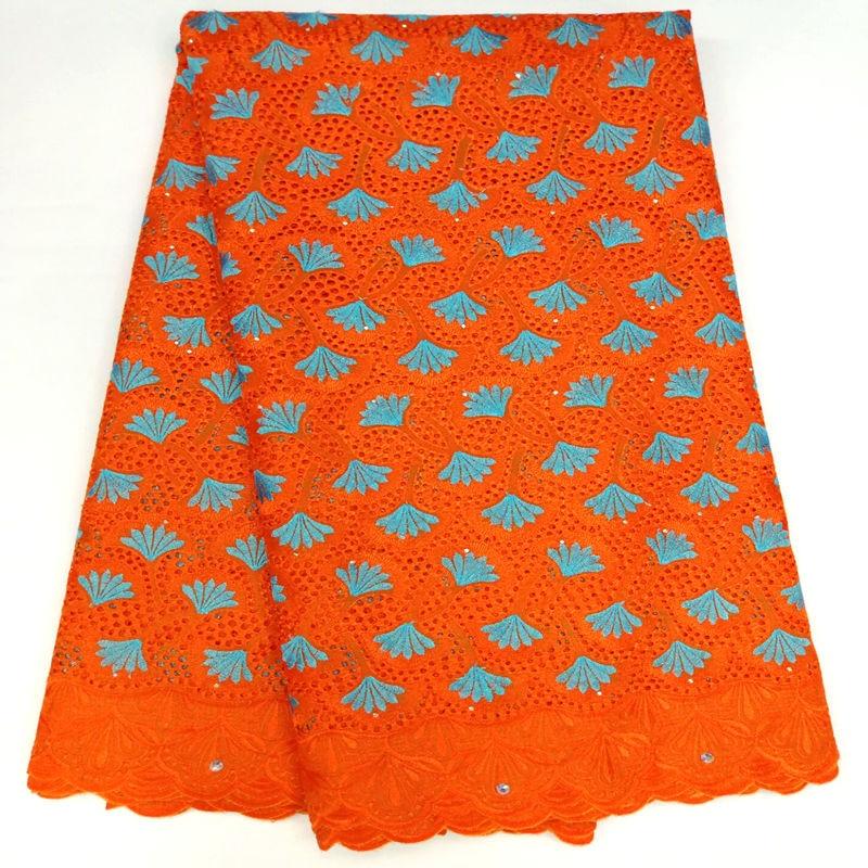 Ev ve Bahçe'ten Dantel'de Sıcak satış orange İsviçre vual dantel % 100% pamuk Nijeryalı dantel kumaş afrika kumaş düğün elbisesi 5 yard/lot RG630'da  Grup 1