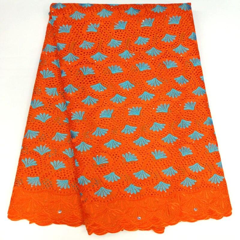 뜨거운 판매 오렌지 스위스 voile 레이스 100% 코 튼 나이지리아 레이스 패브릭 웨딩 드레스 5 yard/lot rg630에 대 한 아프리카 패브릭-에서레이스부터 홈 & 가든 의  그룹 1