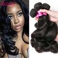 7A Malaysian Loose Wave Virgin Hair 3 Bundles Loose Weave Curly Virgin Malaysian Hair Malaysian Curly Virgin Human Hair Bundles