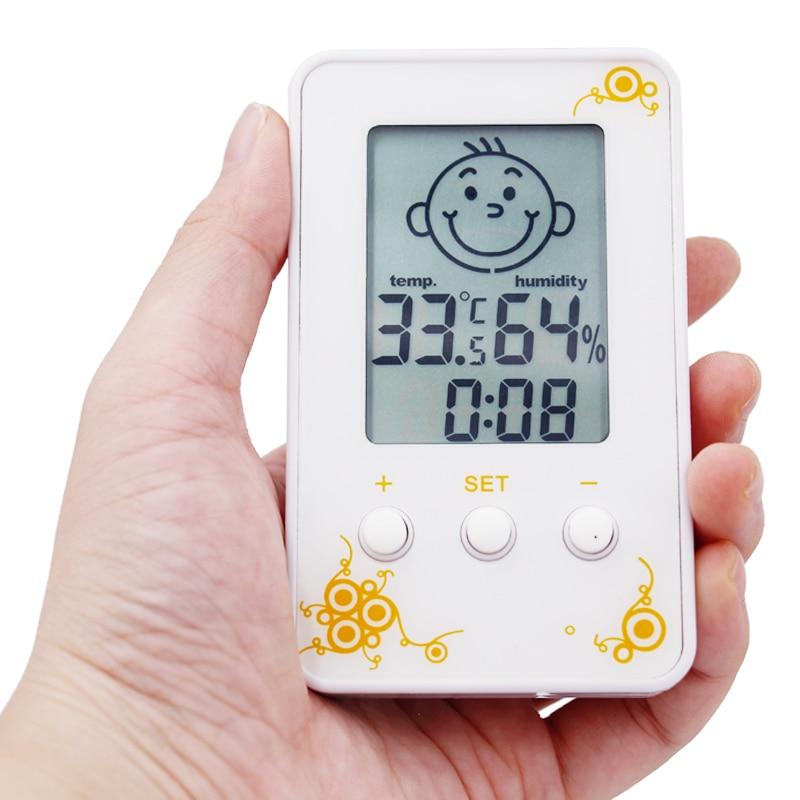 Цифровой ЖК-дисплей термометр-гигрометр Влажность Метеостанция тестер Температура диагностический инструмент Детские Улыбки плача лицо с... ...