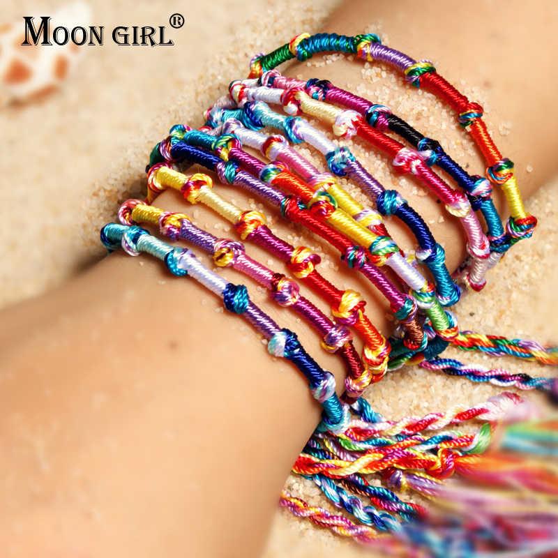 สาวดวงจันทร์ผสม 10 ชิ้นที่มีสีสันCharmsสร้อยข้อมือผู้หญิงขายส่งมิตรภาพสายไฟSrands Handmadeสร้อยข้อมือDropship