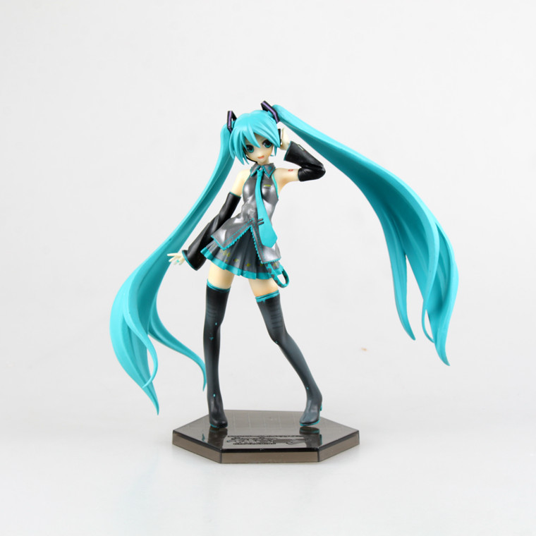 Anime VOCALOID Ievan Polkka Hatsune Miku Figure PVC Action Figure Collectible Model Toy Brinquedos Kids Toys Juguetes shfiguarts batman injustice ver pvc action figure collectible model toy 16cm kt1840