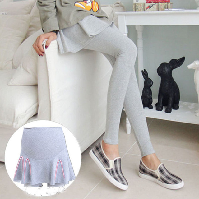 Autumn fashion trousers for pregnant women maternity clothes plus size Thicken type skirt-pants pregnancy solid cotton leggings