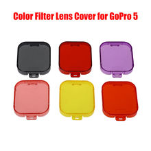6 in 1 Underwater Diving Color Filter Protective Lens Cover for GoPro Hero5 4K Action Sport Camera Accessory