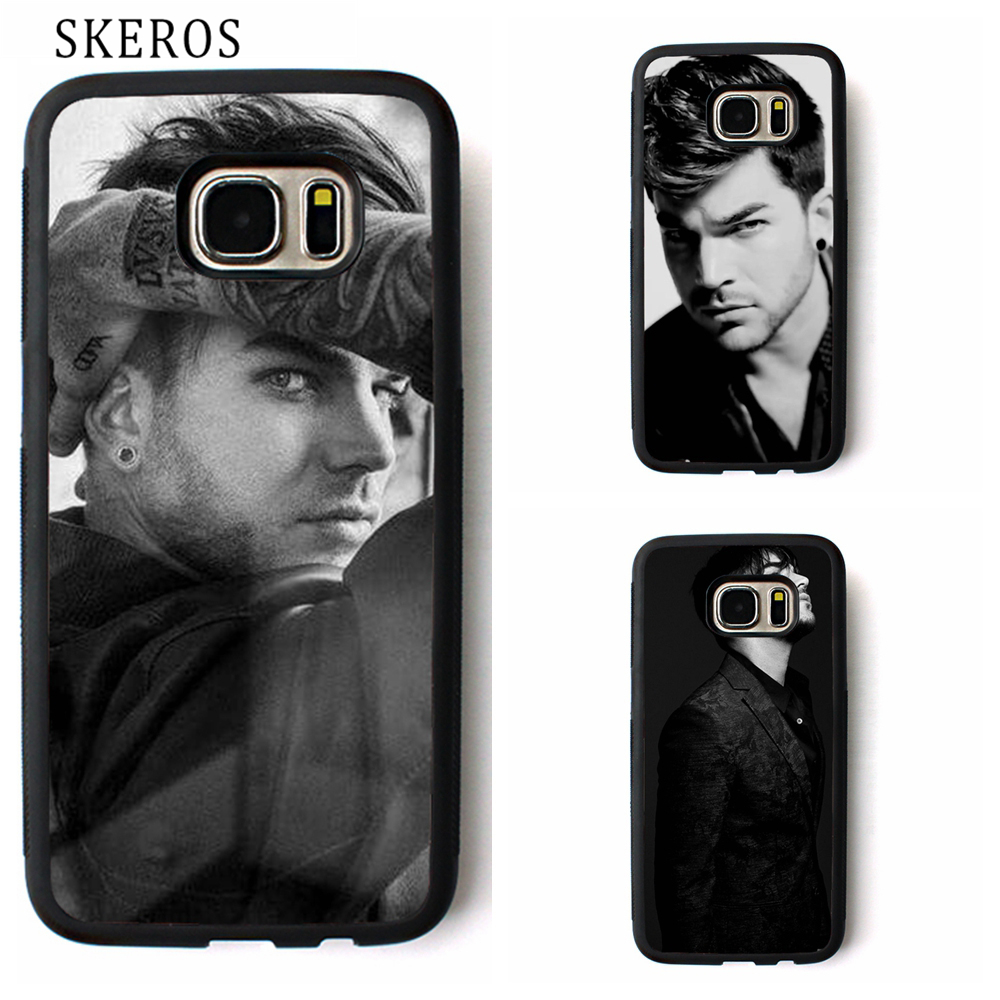 SKEROS Adam Lambert 10 cover phone case for samsung galaxy S3 S4 S5 S6 S7 S8 S6 edge S7  ...