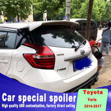 New design for toyota Yaris spoiler 2014 to 2017 year high quality ABS Primer Tail Trunk Lip Wing Rear window Spoiler Decoration for toyota yaris yarisl spoiler abs material car rear wing primer color rear spoiler for toyota yaris l spoiler 2014 2017