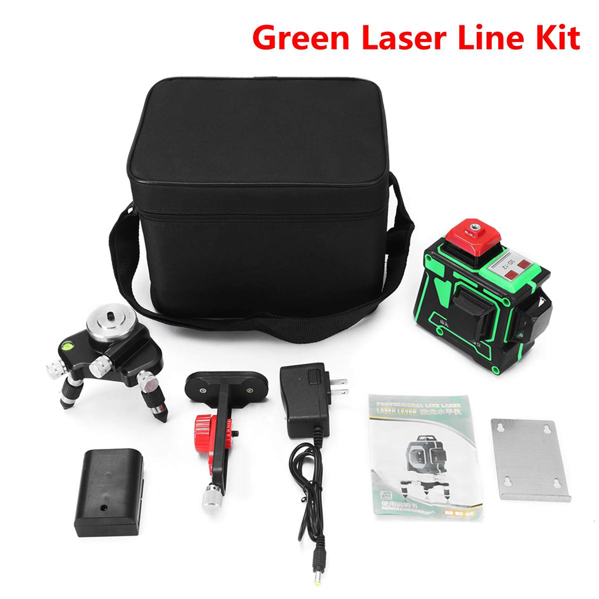 ZEAST Precision Laser Level 12 Lines 3D Green Laser Self Leveling 360 Degree Horizontal & Vertical Cross Waterproof AC 100-240V
