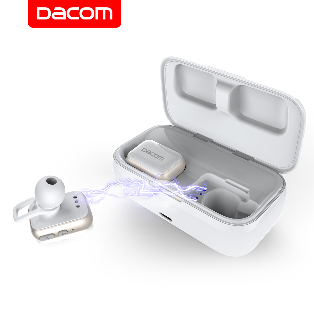 Dacom GF8 TWS Bluetooth Earbuds True Wireless Pods Earbuds Twins Stereo Sound Sport Earphone Headset with 2200mAh Charging Box цена