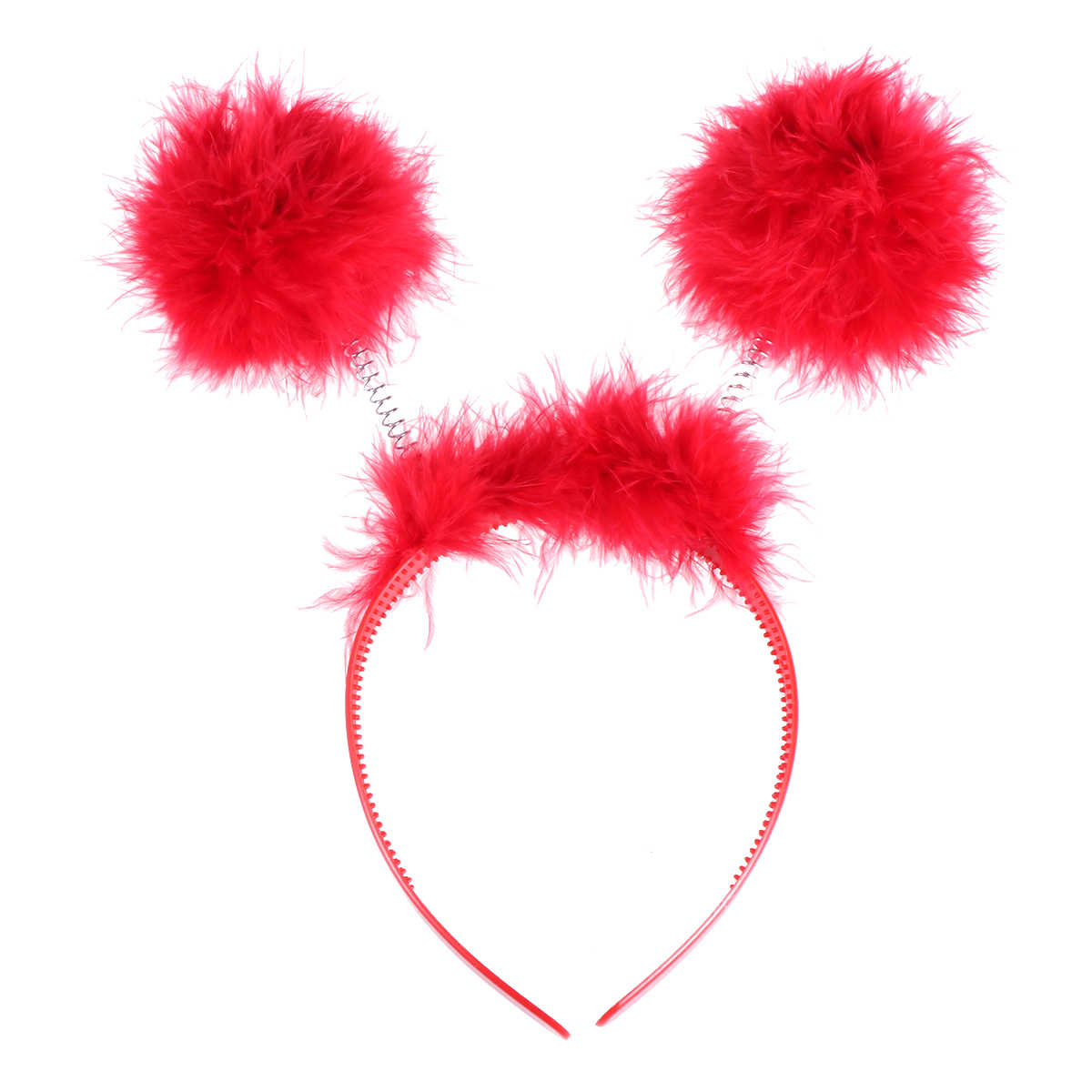 Sweet Girls Cute Ball Headband Hoop Cat Ears Hairband Tiara Hair Accessories For Performance Costume Party Masquerade
