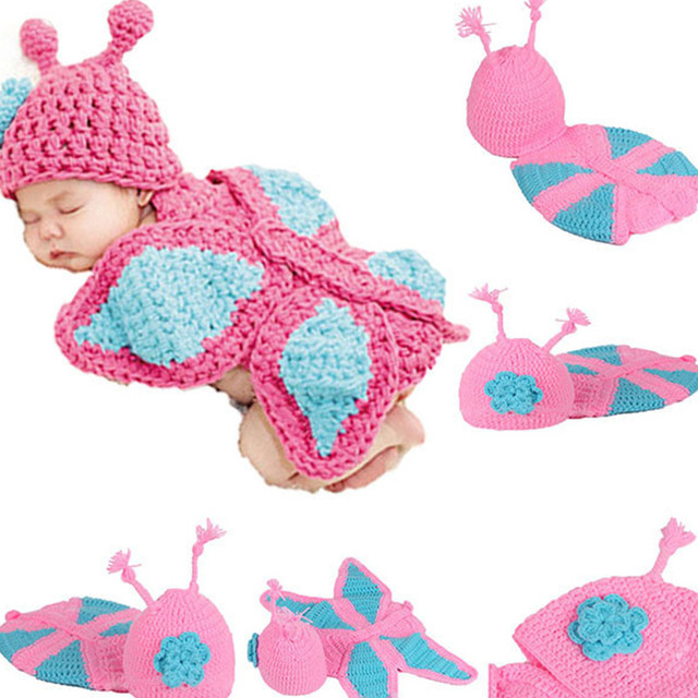 Mariposa del ganchillo animal bebé trajes de punto mariposa bebé ...